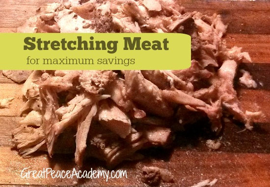 Stretching meat for maximum savings, meal planning at Great Peace Academy