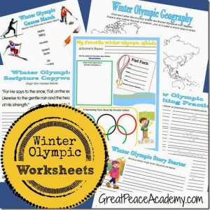 Winter Olympic Worksheets