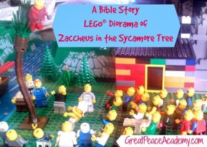 LEGO Diorama of Bible Story