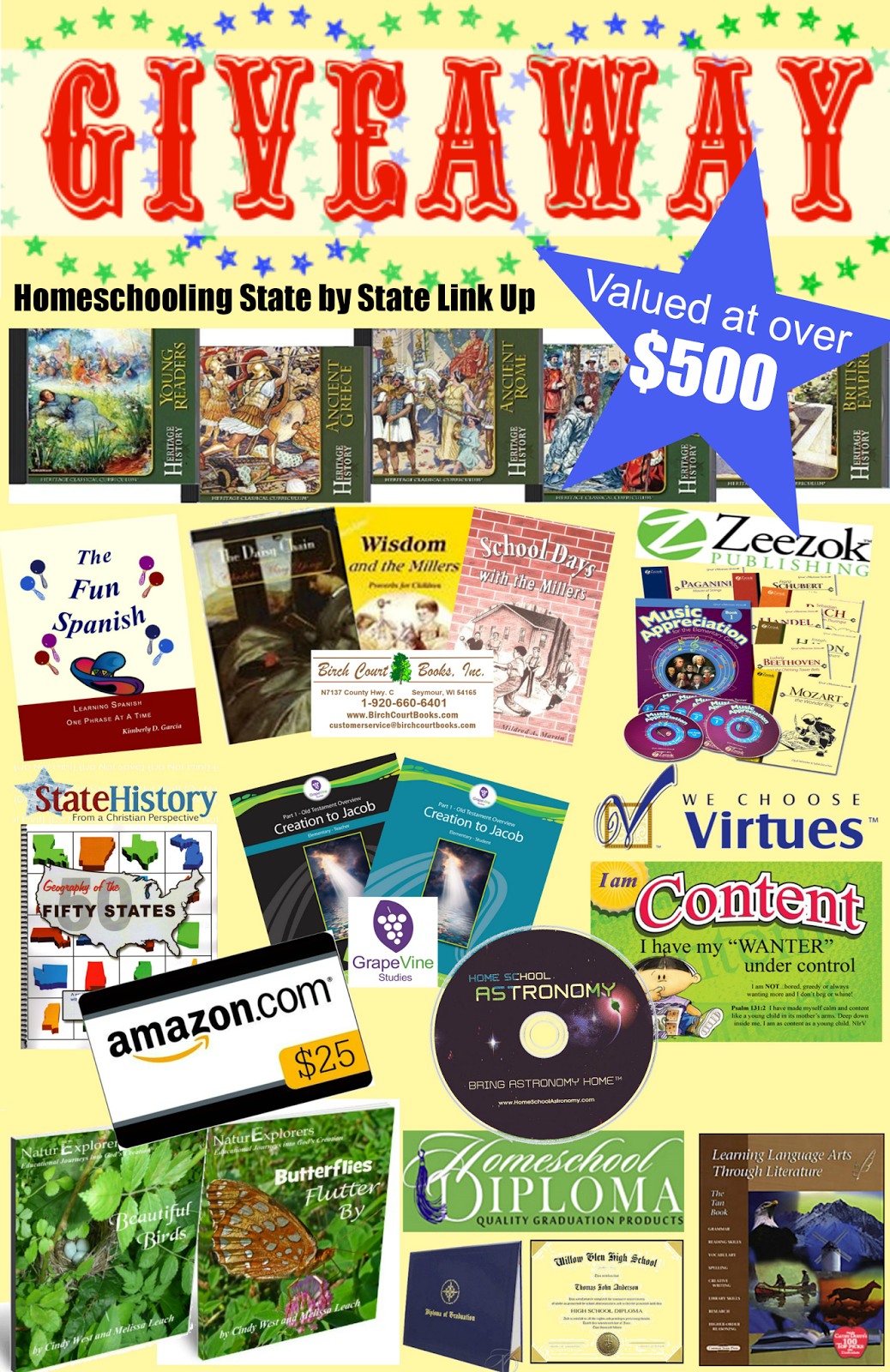 Homeschooling state by state link up & giveaway