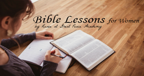Bible Study for Women, growing in peace through God's word at Great Peace Academy.