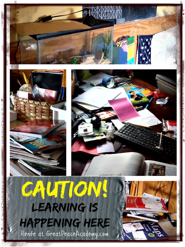 Caution Learning is Happening in the Imperfectly Messy Homeschool | Great Peace Academy
