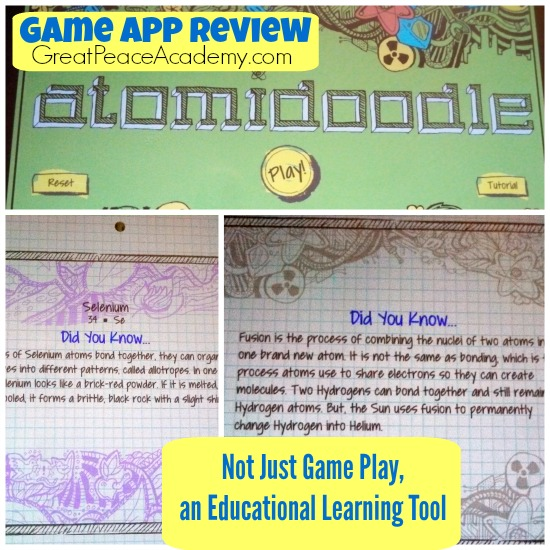 Atomidoodle Game App Review. How Kids can learn the Periodic Table in a Fun Game App. | Great Peace Academy