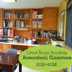Homeschool Class Room 2015-2016 at Great Peace Academy