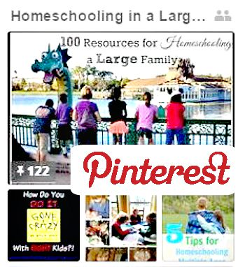 Homeschool Multiple Ages with Large Family Pinterest Boards |Great Peace Academy