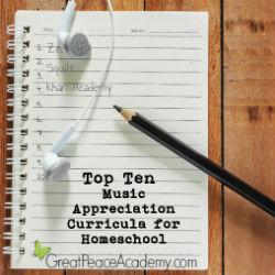 Top 10 Music Appreciation Curricula for Homeschool | Great Peace Academy #ihsnet