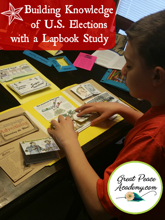 Building Knowledge of U.S. Elections with a Lapbook Study   GreatPeaceAcademy.com #ihsnet