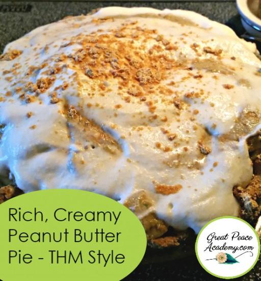 Creamy Peanut Butter Pie | Renée at GreatPeaceAcademy.com