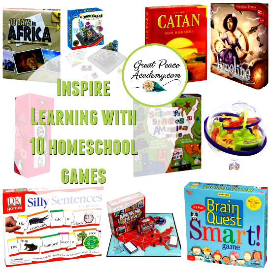 Inspire Learning with homeschool games | GreatPeaceAcademy.com #ihsnet