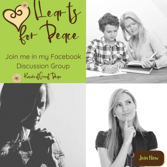 Hearts for Peace Homeschooling Facebook Discussion Group | Renée at Great Peace